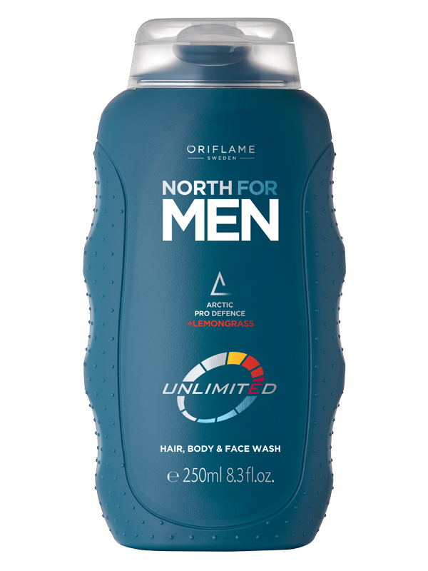 Gel para Cabello, Rostro y Cuerpo North For Men Unlimited