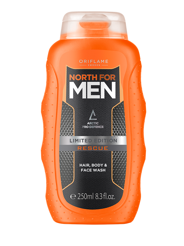 Gel Limpiador Facial, Corporal y Shampoo 3 en 1 North For Men Rescue